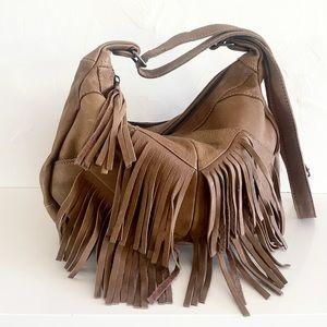 Free People CUT N PASTE Brand leather Fringe Handbag